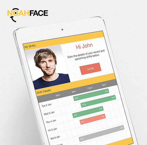 NoahFace Shift iPad Facial Recognition App